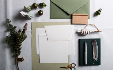 paper with natural green tones